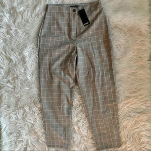 Nasty Gal Ankle Checkered Pants (NEW WITH TAGS!)